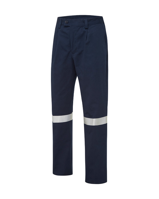 Cotton Drill Utility Pants with Reflective Tape