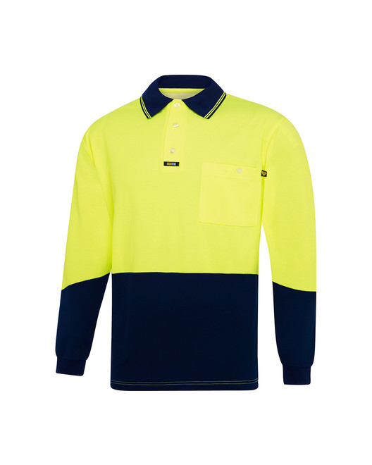 Cotton Backed Microfibre 'Premium'  Polo Shirt L/S