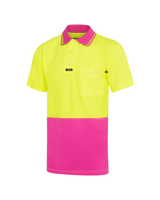 'Pink' Microfibre Polo Shirt S/S