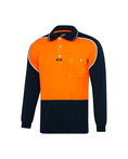 'Aero' Microfibre Polo Shirt L/S (alternate view)